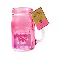 Kilner Trinkglas mit Griff 0,4 Liter pink href=