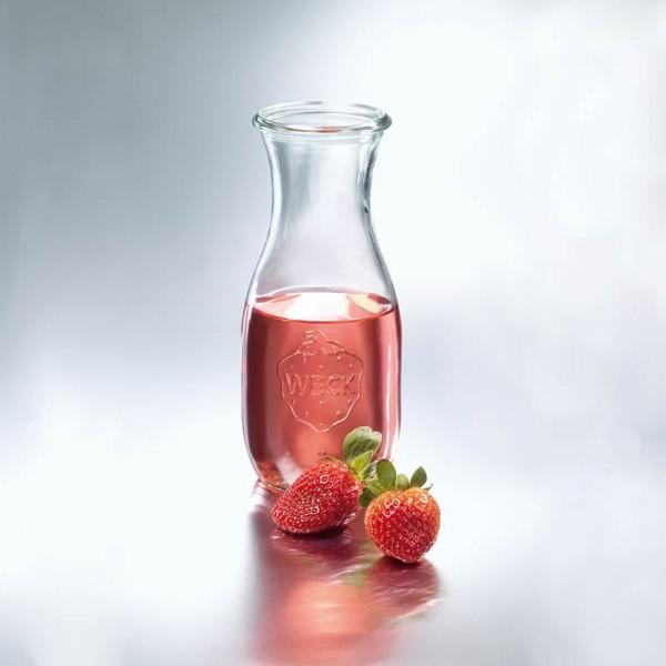 WECK Glas Saftflaschen mit Glasdeckel 1/2 l (530ml)