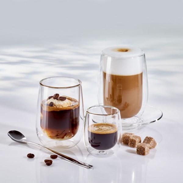 Latte Macchiato Becher doppelwandig 330ml (Ø 9 x 12,4 cm) - 2er Set