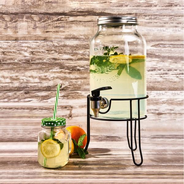 Kilner Getränkespender mit Edelstahlhahn aus Glas 5 Liter