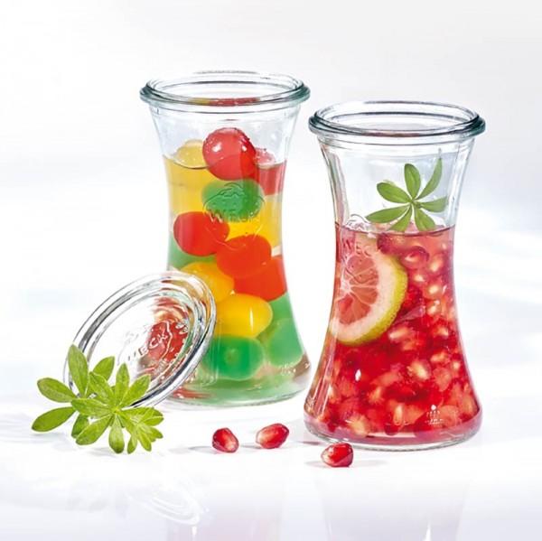 WECK Glas Delikatessenglas mit Glasdeckel 200 ml
