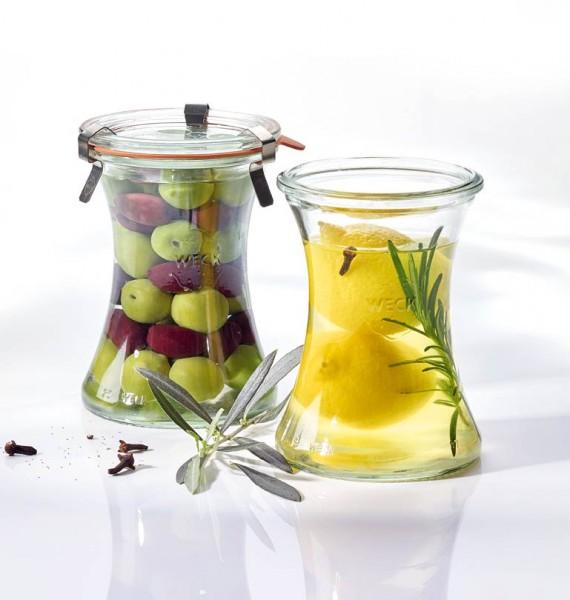 WECK Glas Delikatessenglas mit Glasdeckel 370 ml