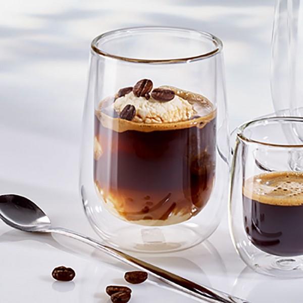 Cappuccino Becher doppelwandig 230ml (Ø 8 x 10,5 cm) - 2er Set-
