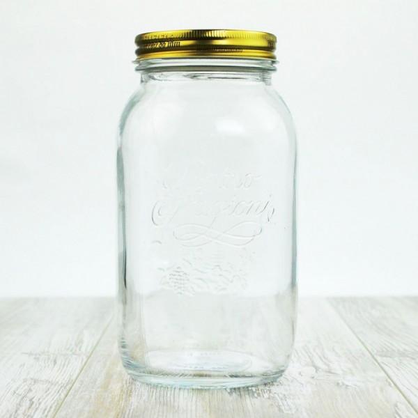 Quattro Stagioni Einmachglas 1,5 Liter   Schraubverschlussgläser    Einmachgläser   Einkochzeit
