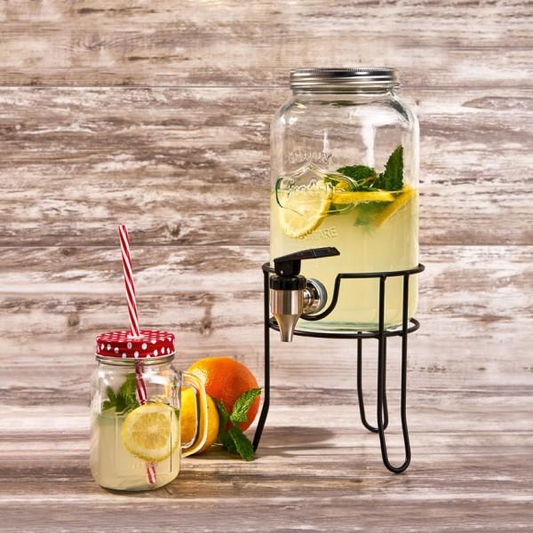 """""""Garden Style"""" Getränkespender 5,5 Liter mit Edelstahlzapfhahn und Ständer"""