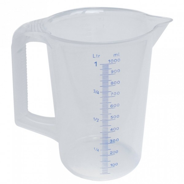 Messbecher PP 50 ml Inhalt 1,0 Liter