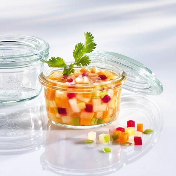 WECK Glas Mini-Sturzform mit Glasdeckel 50ml