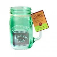 Kilner Trinkglas mit Griff 0,4 Liter grün href=
