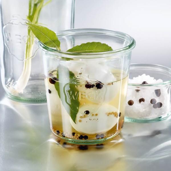 WECK Glas Sturzform mit Glasdeckel 1/2 l (580ml)