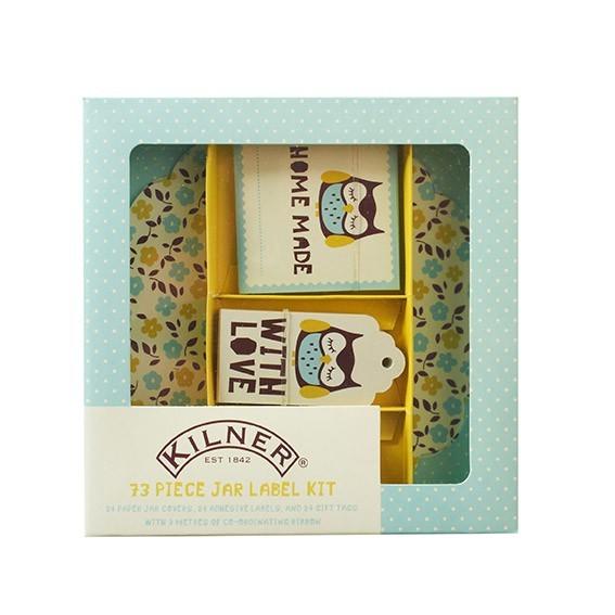 Kilner Etiketten Set - Owl (73 Stück)